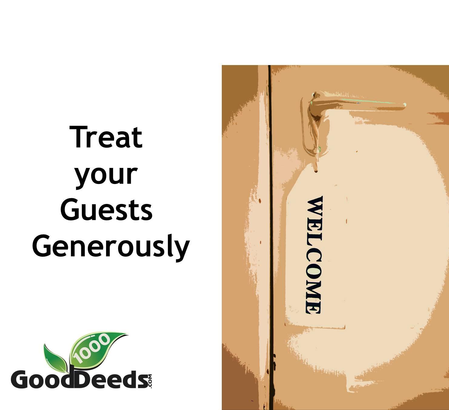 Good Deed 16 Honor Your Guests 1000 Good Deeds