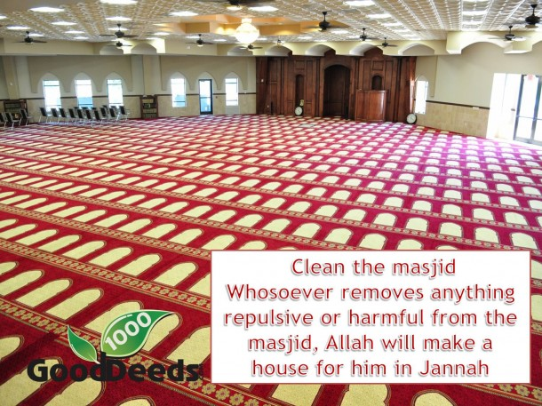 reward for cleaning masjid